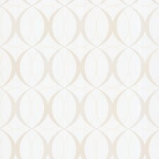 "Zinc Circulate Retro Orb 33' x 20.5"" Geometric Embossed Wallpaper"