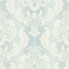 """Springtime Cottage Ombre String 33' x 20.5"""" Damask Embossed Wallpaper"""