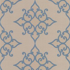 """Decadence 33' x 20.5"""" Damask Embossed Wallpaper"""
