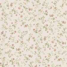 """Dollhouse Sophie 33' x 20.5"""" Floral and Botanical Embossed Wallpaper"""