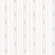 """Dollhouse Belle 33' x 20.5"""" Stripes Embossed Wallpaper"""