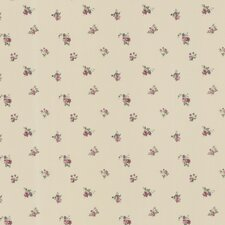 "Dollhouse Debbie Small Rose Toss 33' x 20.5"" Floral and Botanical Embossed Wallpaper"