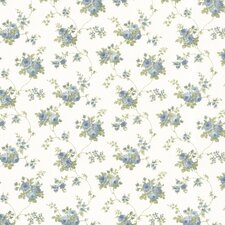 "Dollhouse Isabella Rose 33' x 20.5"" Floral and Botanical Embossed Wallpaper"