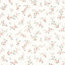 "Dollhouse Fiona Sprigs 33' x 20.5"" Floral and Botanical Embossed Wallpaper"