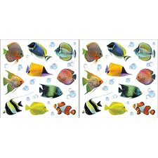 Euro Fish Wall Decal Set