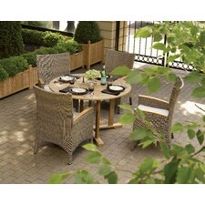 Torbay 5 Piece Dining Set with Cushions