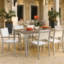 Travira 7 Piece Tekwood Dining Set