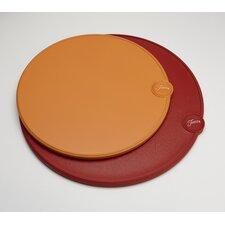2 Piece Round Cutting Board Set