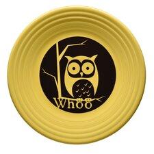 """9"""" Halloween Whoo Owl Luncheon Plate"""