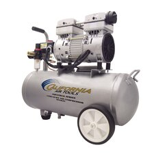 6 Gallon Industrial Ultra Quiet/Oil-Free 1 Hp Air Compressor
