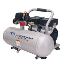 2 Gallon Ultra Quiet/Oil-Free 0.75 Hp Air Compressor