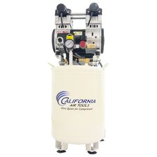 10 Gallon Ultra Quiet and Oil-Free  2 HP Steel Tank Air Compressor with Air Drying System