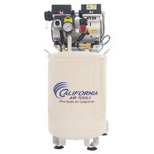 10 Gallon Ultra Quiet and Oil-Free 1 HP Steel Tank Air Compressor with Air Drying System
