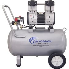 15 Gallon Ultra Quiet and Oil-Free 2 HP Steel Tank Air Compressor