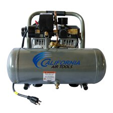 1.6 Gallon Ultra Quiet  and Oil-Free 1/2 HP Aluminum Tank  Air Compressor