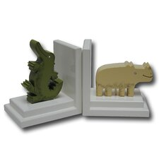 Crocodile / Rhino Book Ends (Set of 2)