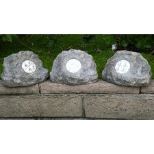 Solar Power Jumbo Rock Spot Light (Set of 3)