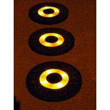 Solar Power Round Stepping Stone (Set of 3)