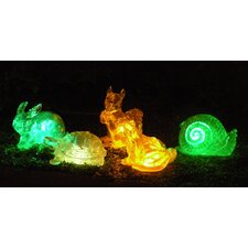 5 Piece Solar Changing Color Assorted Animal