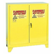 "44"" H x 43"" W x 18"" D Flammable Liquid 30 Gallon Safety Storage Cabinet"