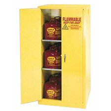 "65"" H x 31.25"" W x 31.25"" D Flammable Liquid 60 Gallon Safety Storage Cabinet"