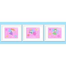 3 Piece Fairy Princess Personalized Framed Art Set