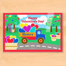 Valentine's Day Truck Personalized Placemat
