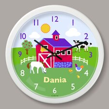 "Country Farm Personalized 12"" Wall Clock"