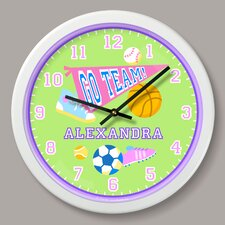 """Game On Personalized 12"""" Wall Clock"""