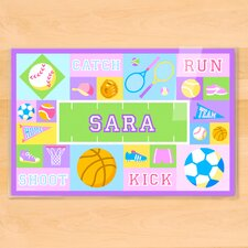 Game On Girls Personalized Placemat
