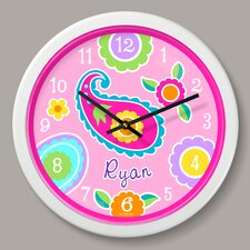 "Paisley Dreams Personalized 12"" Wall Clock"