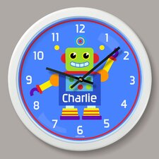 "Robots Personalized 12"" Wall Clock"