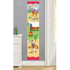 Ride 'Em Personalized Peel and Stick Growth Chart