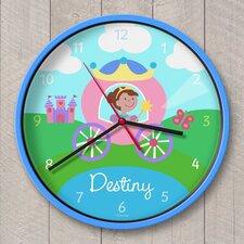 "12"" Princess Personalized Wall Clock"