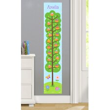 Baby Birds Personalized Peel and Stick Growth Chart