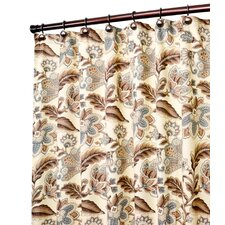 Valerie Jacobean Floral Print Shower Curtain