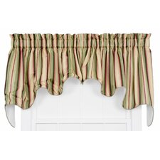 Mateo Medium Scale Stripe Print Lined Duchess Curtain Valance