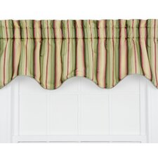 Mateo Medium Scale Stripe Print Lined Duchess Filler Curtain Valance