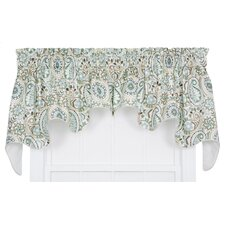 Paisley Prism Jacobean Floral Print Lined Duchess Curtain Valance