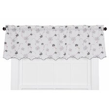 Zoe Crushed Taffeta Open Floral Print Curtain Valance
