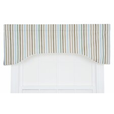 Line-Up Stripe Print Lined Arched Curtain Valance