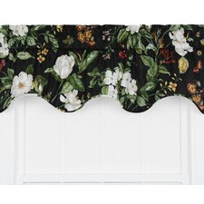 Garden Images Large Scale Floral Print Lined Duchess Filler Curtain Valance