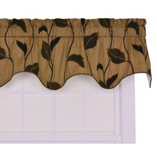 "Riviera Large Scale Leaf and Vine Lined Duchess Filler 50"" Curtain Valance"