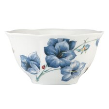 Butterfly Meadow 16 oz. Blue Rice Bowl