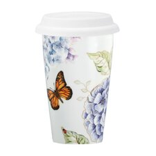 Butterfly Meadow Blue Thermal Travel Mug