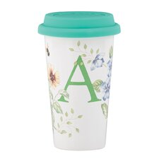 """Butterfly Meadow """"A"""" Thermal Travel Mug"""