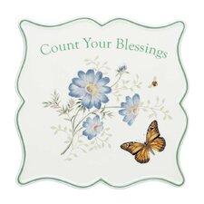 Butterfly Meadow Sentiment Trivet Bless