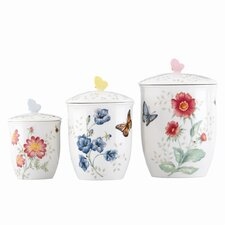 Butterfly Meadow 3-Piece Canister Set