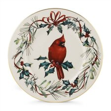 "Winter Greetings 9"" Cardinal Accent Plate"
