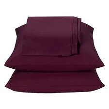 Solid Percale Waterbed Sheet Set